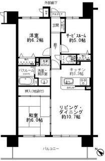 サーパス春日通り9F 間取り .JPG