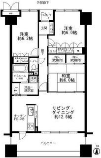 サーパス西桜町3F 間取り図.JPG